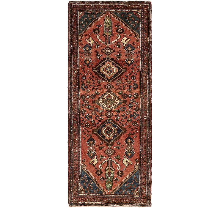 3' 5 x 9' 2 Khamseh Persian Runner ...