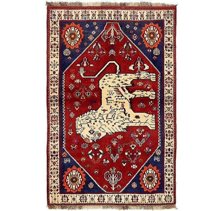 4' 2 x 6' 5 Ghashghaei Persian Rug
