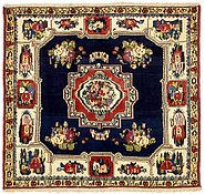 Link to 147cm x 163cm Bakhtiar Persian Square Rug