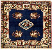 Link to 4' 10 x 5' 5 Bakhtiar Persian Square Rug