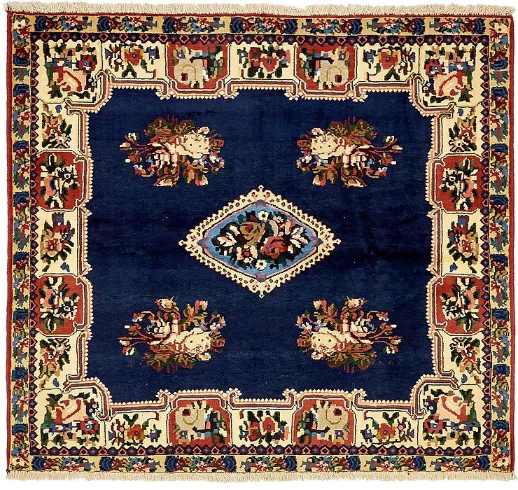 4' 10 x 5' 5 Bakhtiar Persian Square...