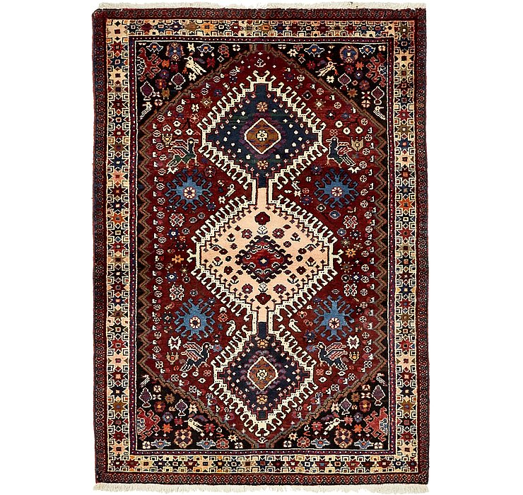 HandKnotted 3' 6 x 5' Yalameh Persian Rug