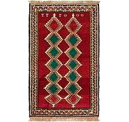 Link to 3' 7 x 6' Shiraz-Gabbeh Persian Rug