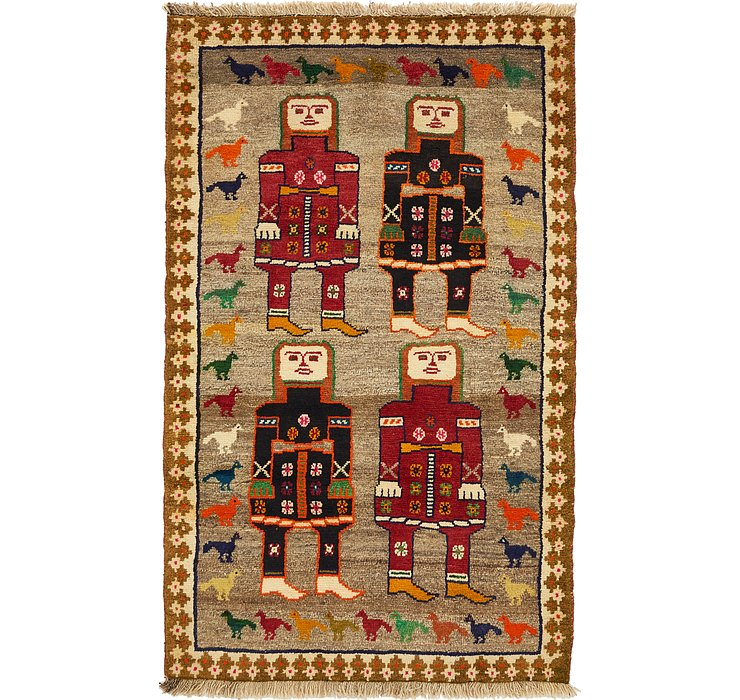 3' 10 x 6' 3 Ghashghaei Persian Rug