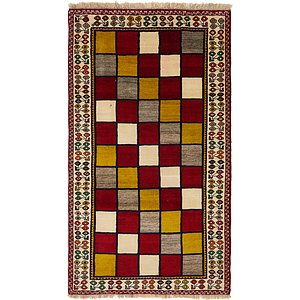 3' 10 x 6' 9 Shiraz-Gabbeh Persian Rug
