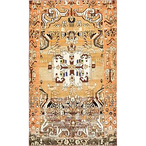 5' x 8' 6 Ultra Vintage Persian ...