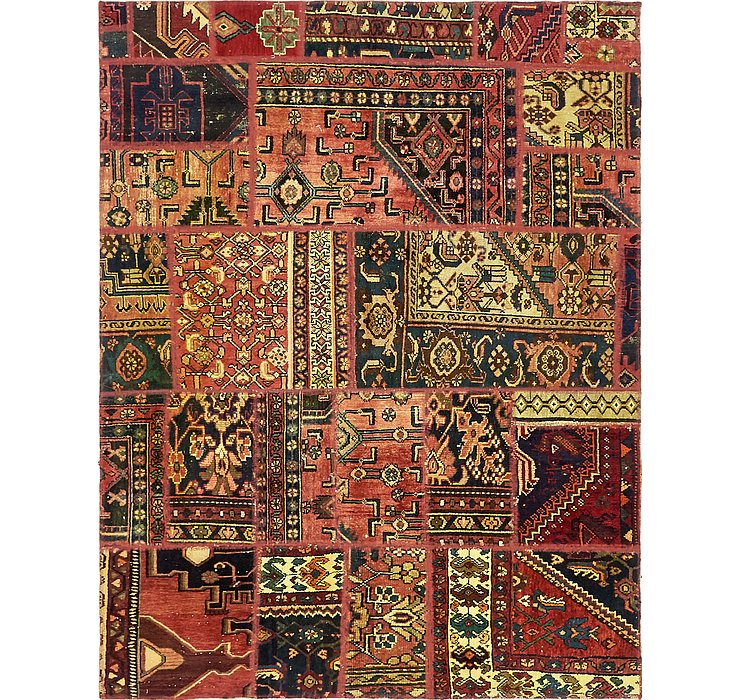 155cm x 203cm Ultra Vintage Persian Rug