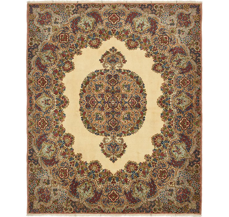 6' 10 x 8' Kerman Persian Square Rug