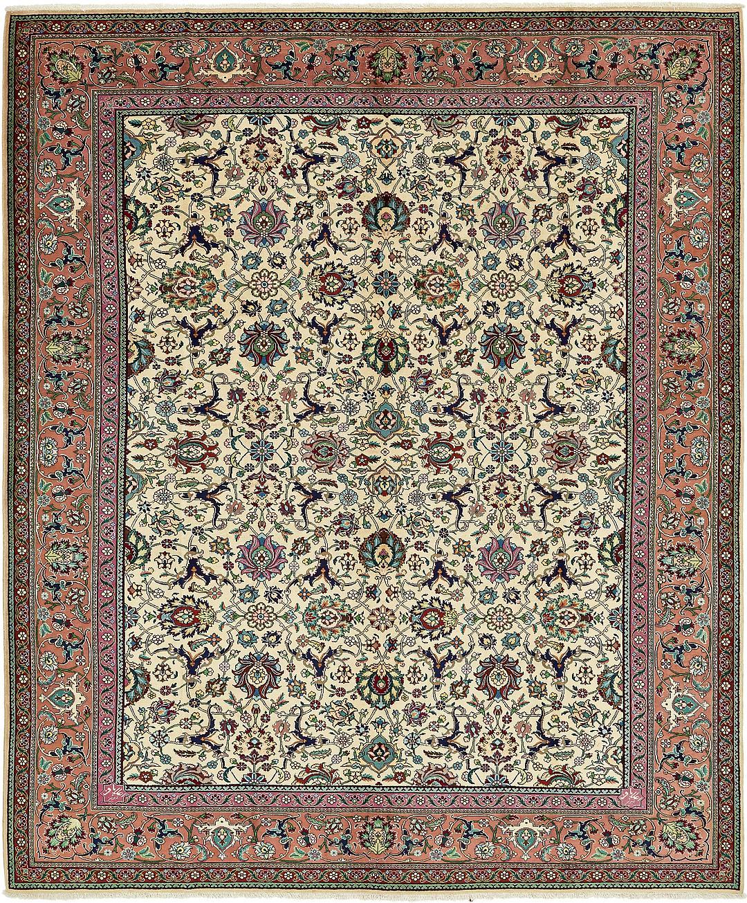 ivory 10 39 x 12 39 2 tabriz persian rug persian rugs. Black Bedroom Furniture Sets. Home Design Ideas