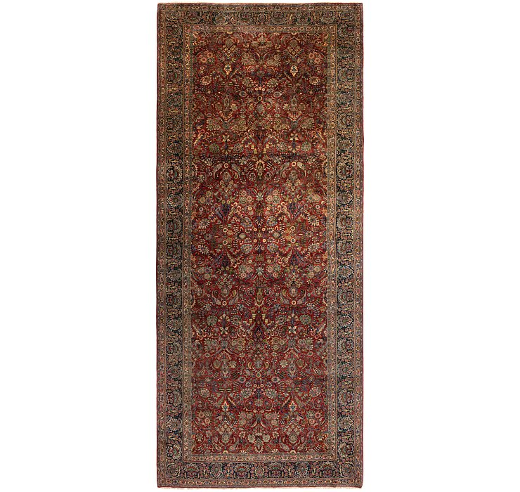 8' 9 x 21' 2 Sarough Persian Runner ...