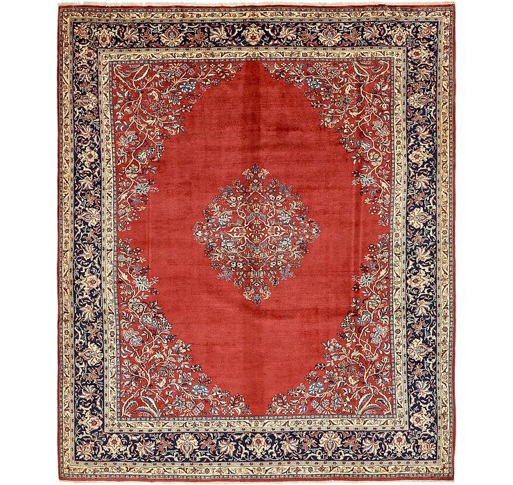 9' 10 x 12' 2 Sarough Persian Rug