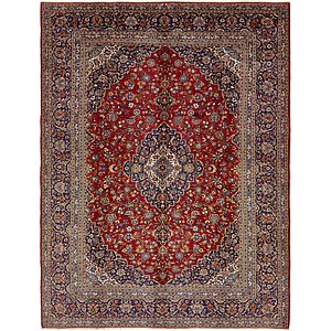 10' 9 x 14' 2 Kashan Persian Rug