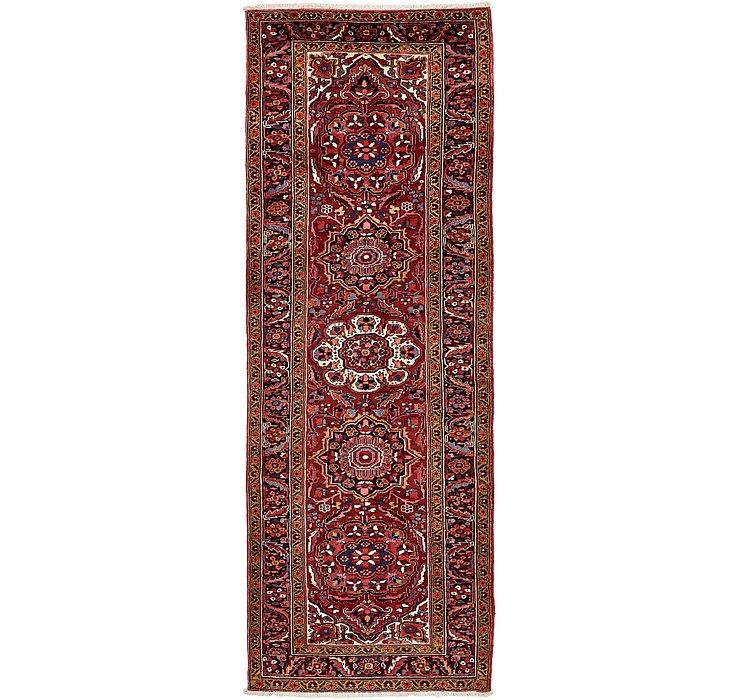 3' 10 x 11' 1 Heriz Persian Runner Rug