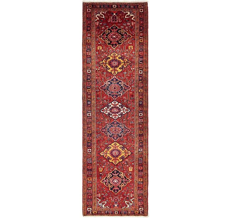3' 7 x 12' Heriz Persian Runner Rug