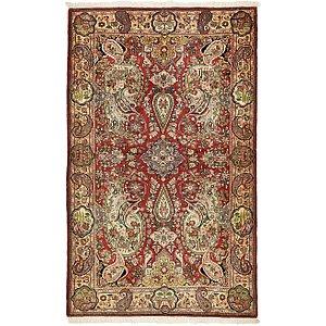 4' 2 x 6' 9 Qom Persian Rug