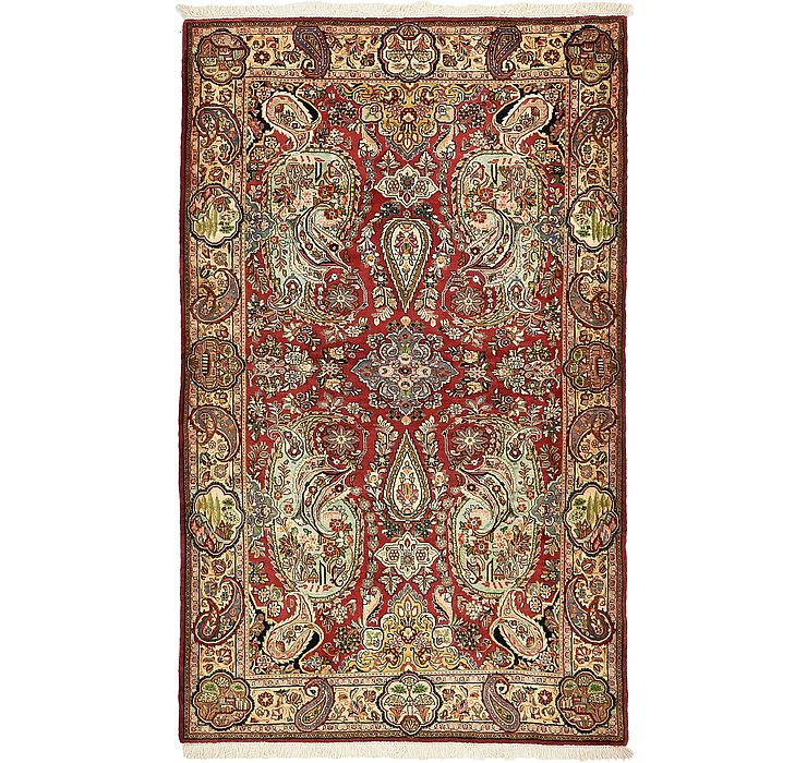 HandKnotted 4' 2 x 6' 9 Qom Persian Rug