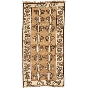 Unique Loom 3' 1 x 6' 5 Shiraz-Gabbeh Persian Rug