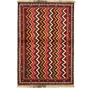 Link to 3' 6 x 5' Shiraz-Gabbeh Persian Rug