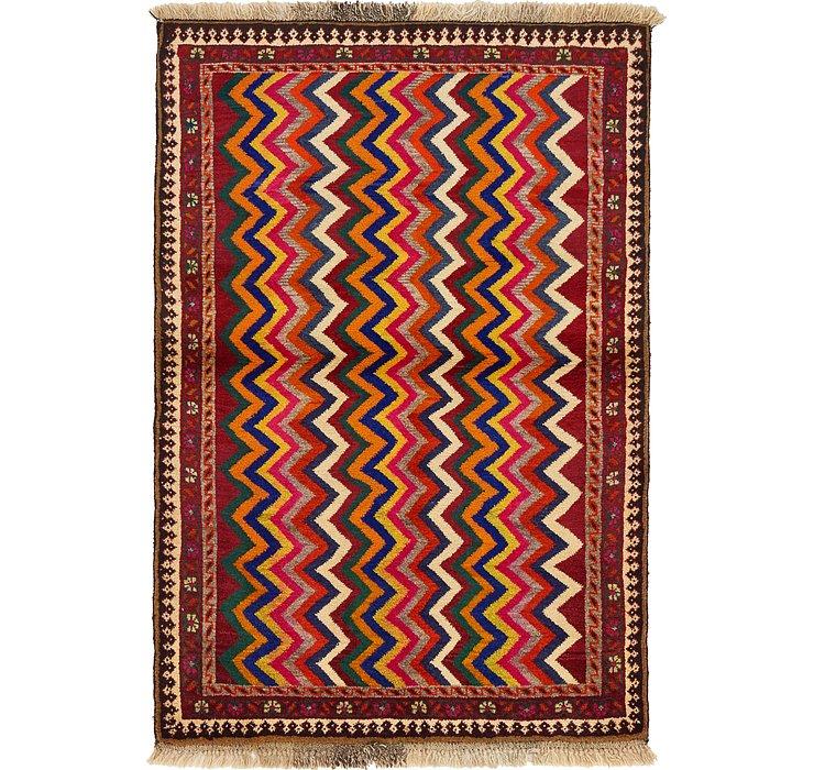 3' 6 x 5' Shiraz-Gabbeh Persian Rug
