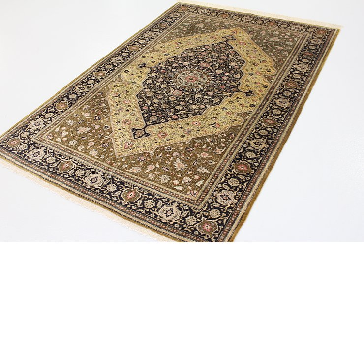 4' 6 x 6' 9 Qom Persian Rug