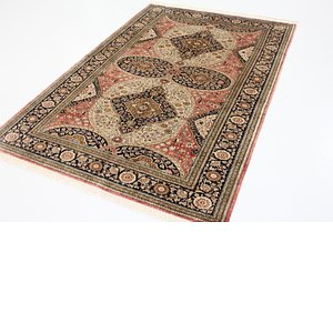 3' 9 x 6' 11 Qom Persian Rug