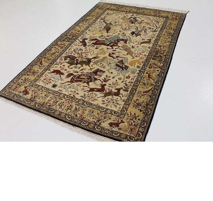 4' 7 x 7' Qom Persian Rug