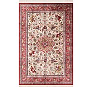 Link to 6' 6 x 9' 9 Qom Persian Rug