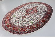 Link to 6' 7 x 11' 2 Qom Persian Oval Rug