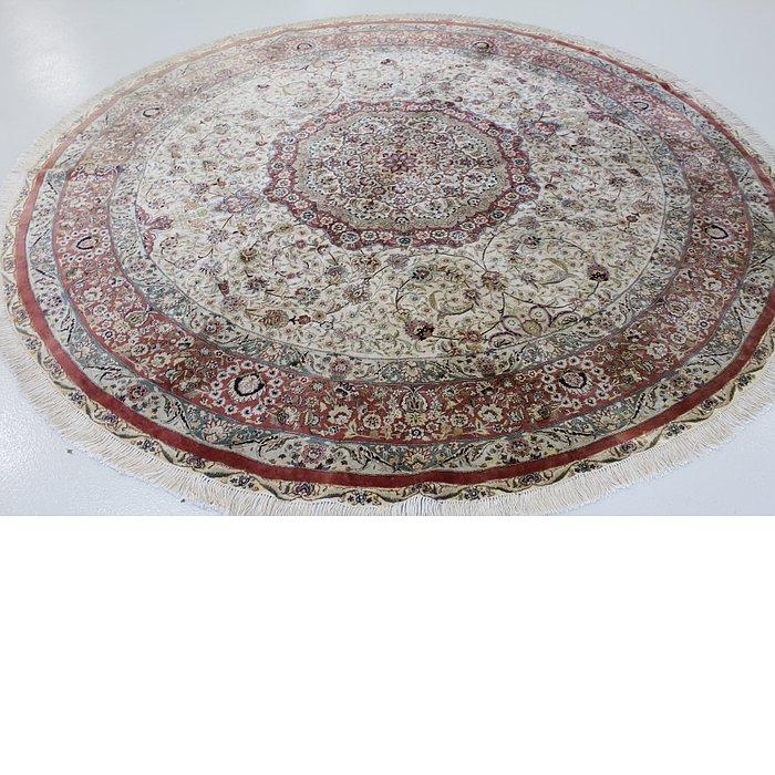 8' 2 x 8' 2 Qom Persian Round Rug