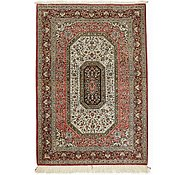 Link to 3' 7 x 5' 3 Qom Persian Rug