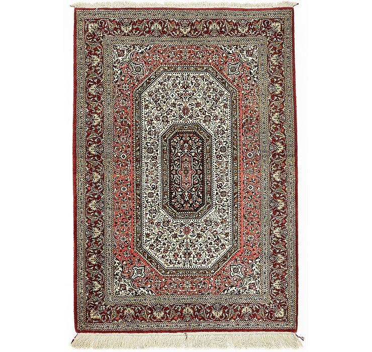 3' 7 x 5' 3 Qom Persian Rug