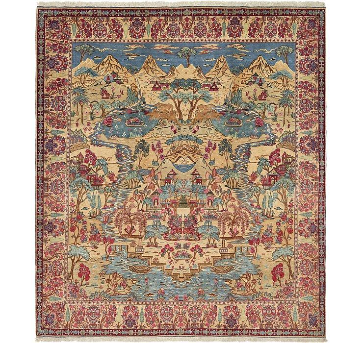 11' x 12' 7 Tabriz Persian Rug