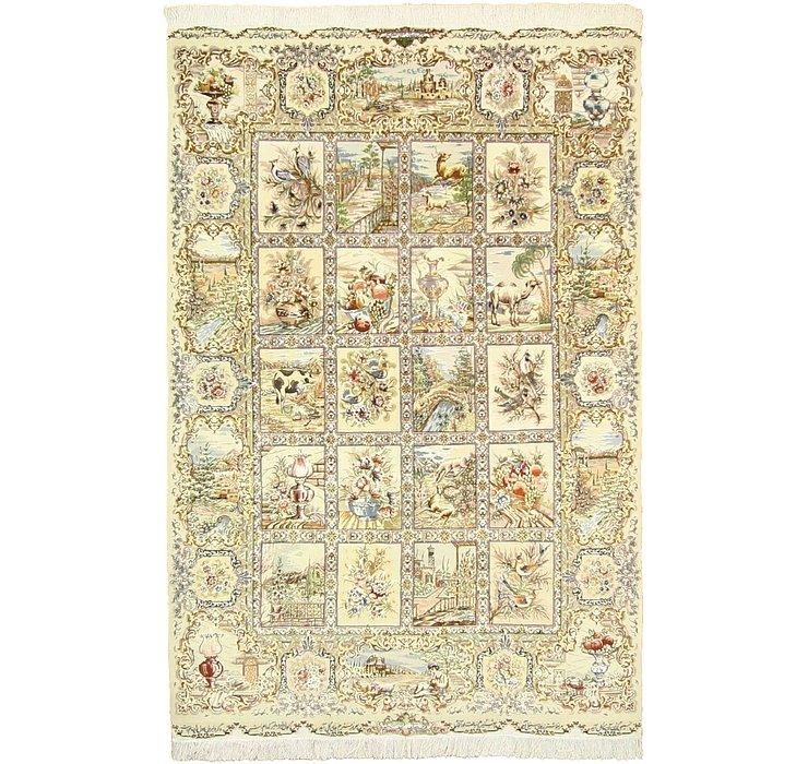 4' 10 x 7' 1 Tabriz Persian Rug