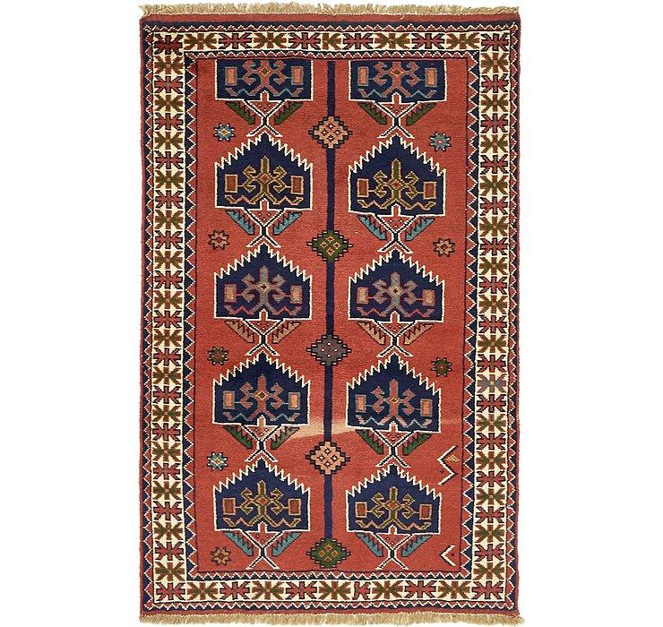 4' x 6' 4 Ghoochan Persian Rug