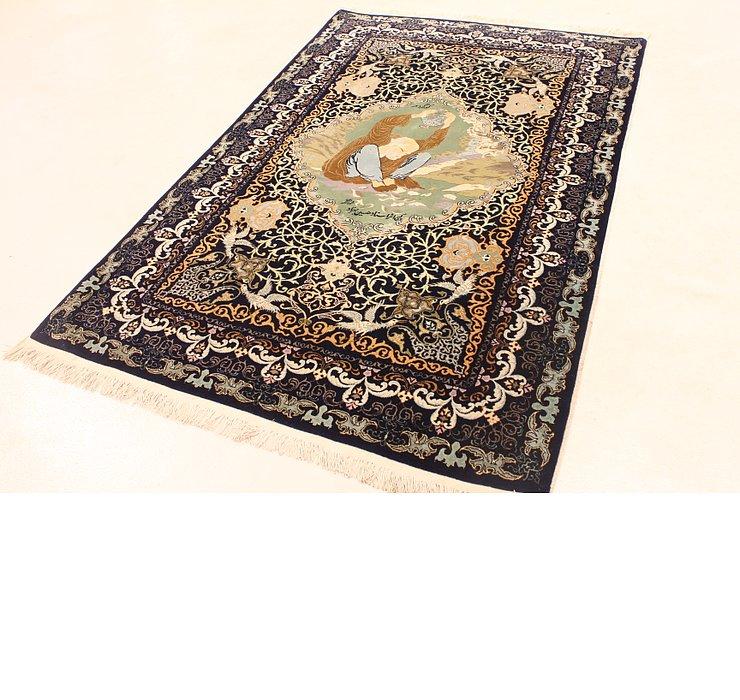 4' 5 x 6' 11 Kashan Persian Rug