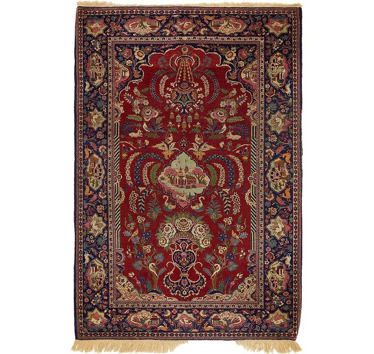 4' 6 x 6' 7 Isfahan Persian Rug