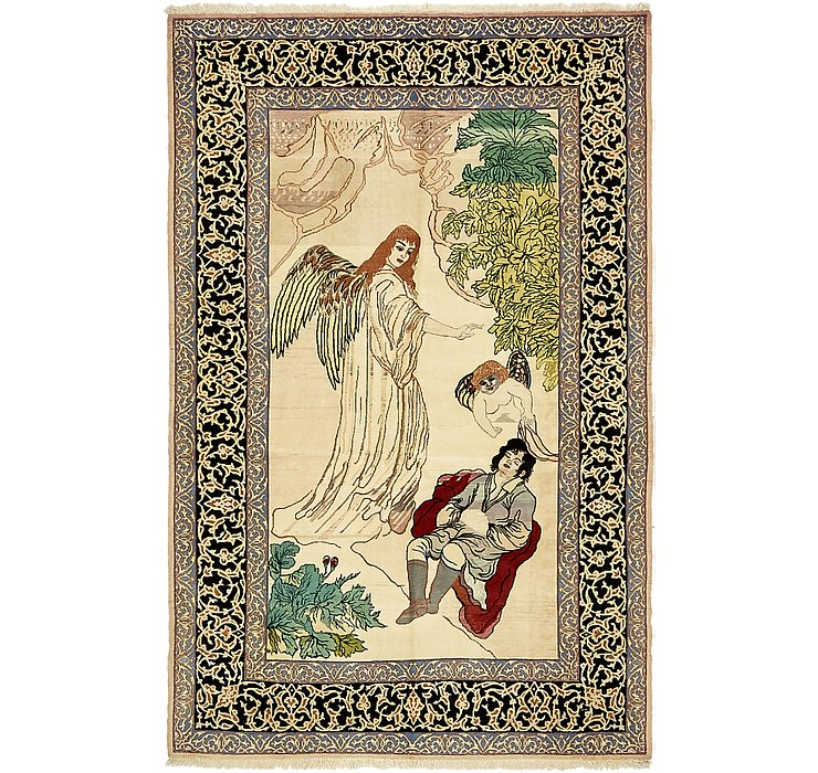 105cm x 160cm Isfahan Persian Rug