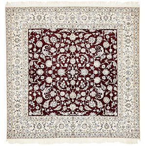 8' 3 x 8' 4 Nain Persian Square Rug
