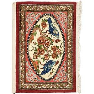 2' 5 x 3' 4 Qom Persian Rug