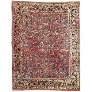 9' 3 x 11' 10 Sarough Persian Rug