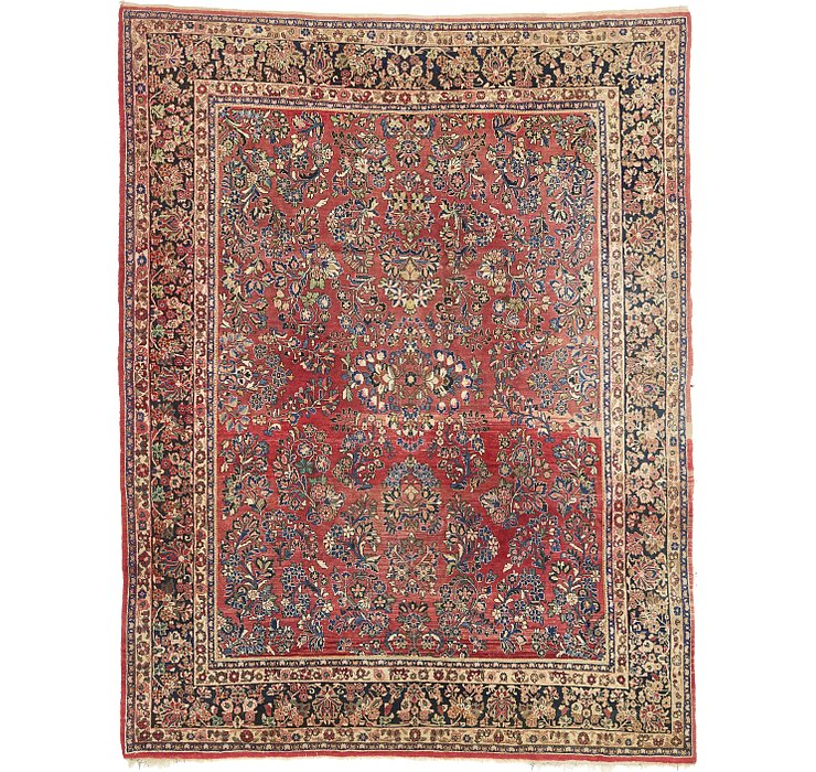 9' 3 x 11' 10 Sarough Persian Rug