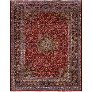 HandKnotted 10' x 12' 7 Mashad Persian Rug