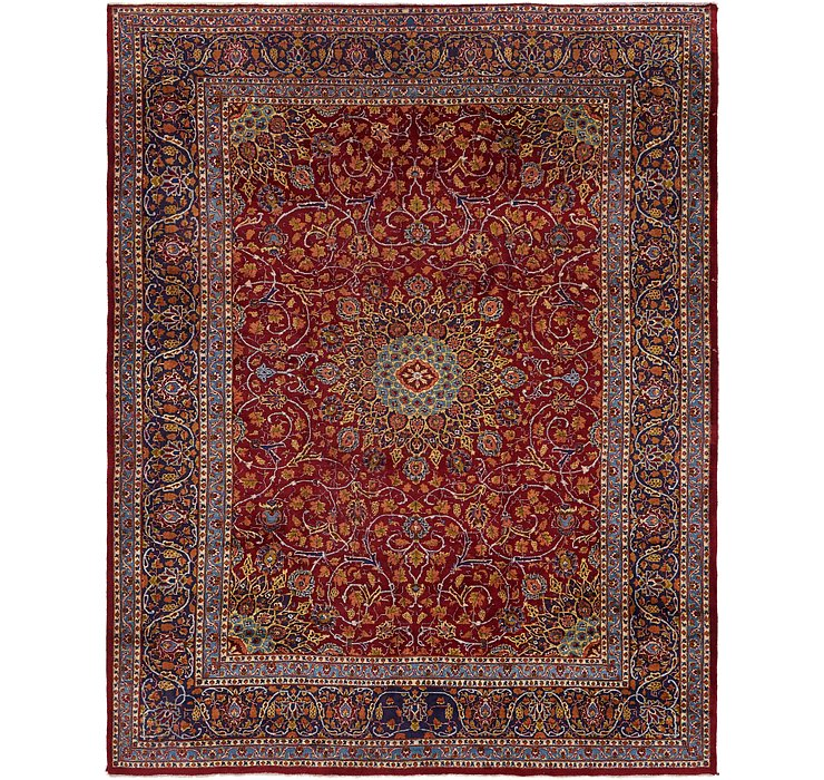 HandKnotted 10' x 12' 7 Mashad Persian Rug