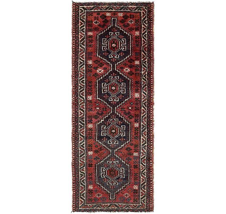 3' 4 x 8' 9 Shiraz Persian Runner Rug