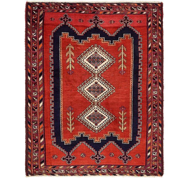 HandKnotted 4' 3 x 5' 7 Hamedan Persian Rug