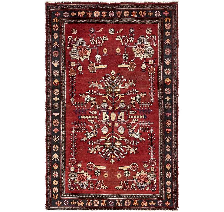 4' 5 x 7' Hamedan Persian Rug