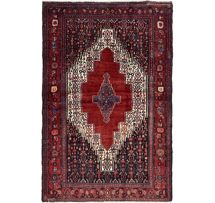 4' 4 x 6' 6 Sanandaj Persian Rug
