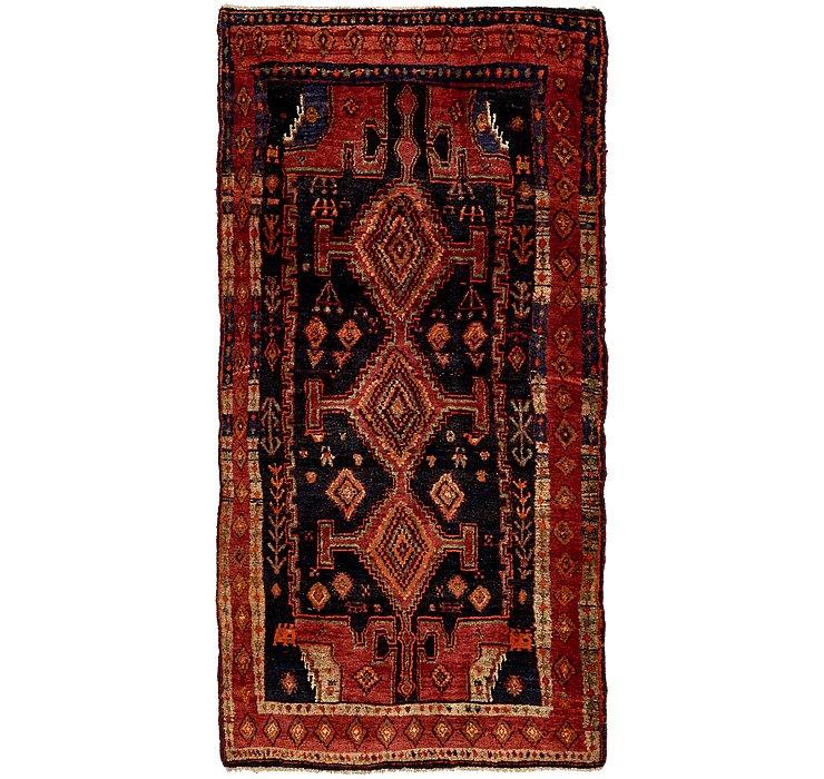 HandKnotted 4' 5 x 9' Sirjan Persian Runner Rug