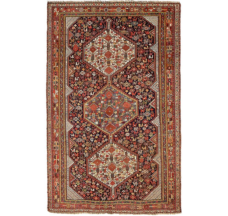 6' 1 x 9' 5 Shiraz Persian Rug