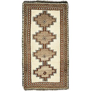 3' 7 x 6' 5 Shiraz-Gabbeh Persian Rug